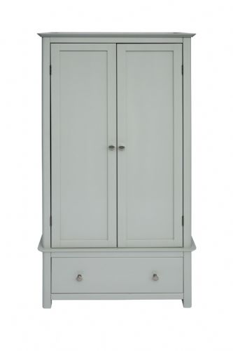 Elgin Grey and Glass 2 Door 1 Drawer Wardrobe